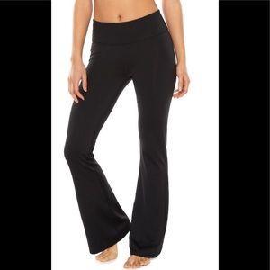 Gaiam Black Om Bootcut Yoga Pants 2X